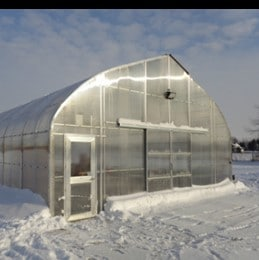 School Greenhouse in Winter