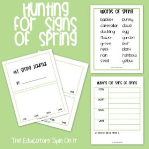 Spring Journal and Observation Sheet for Kids