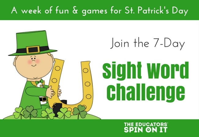 St. Patrick's Day Sight Word Challenge