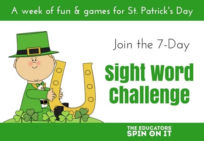 St. Patrick's Day Sight Word Challenge
