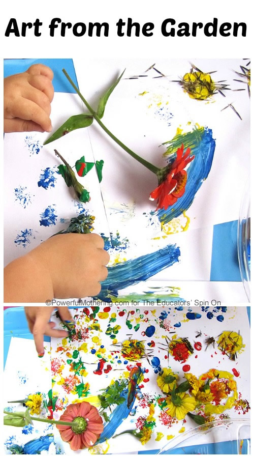 art from the garden with flowers