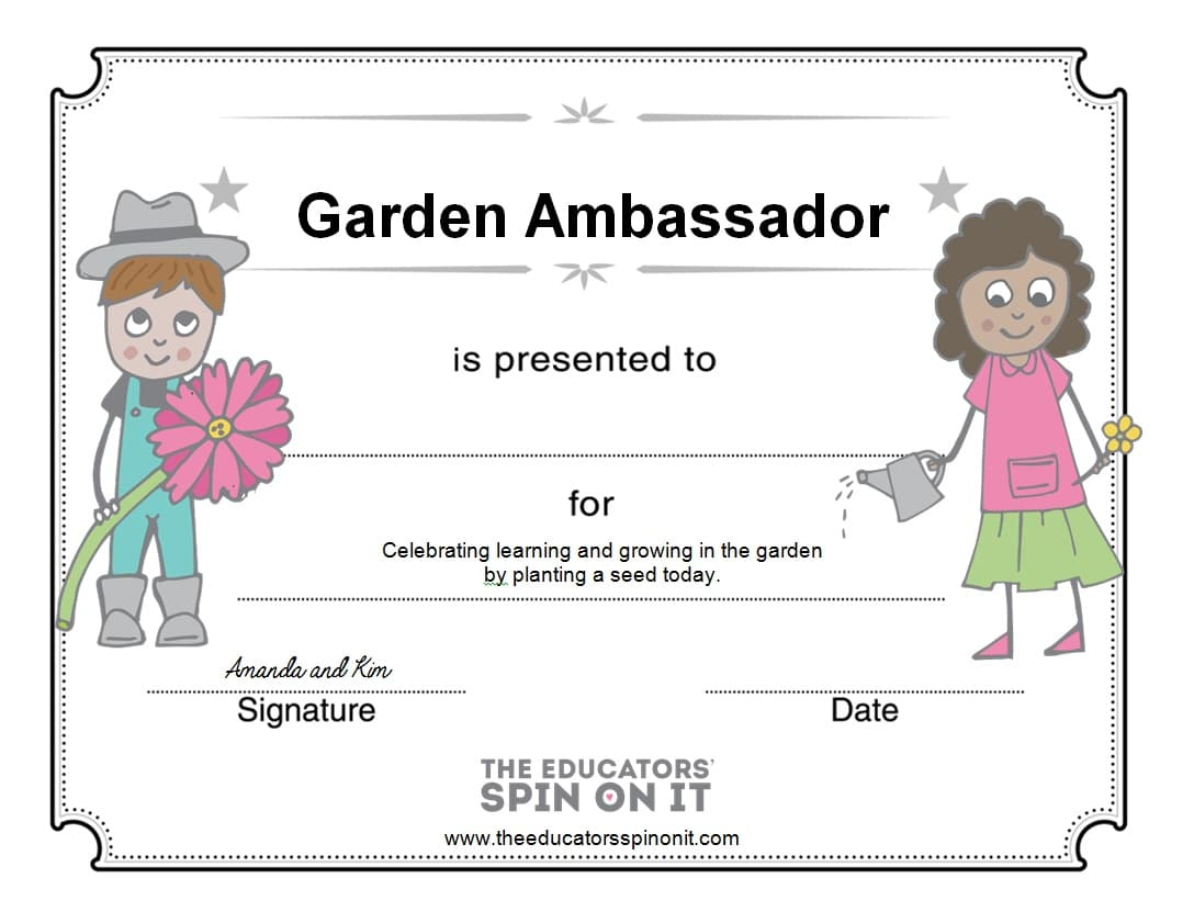gardening with kids garden ambassadors 2014 the educators u0027 spin