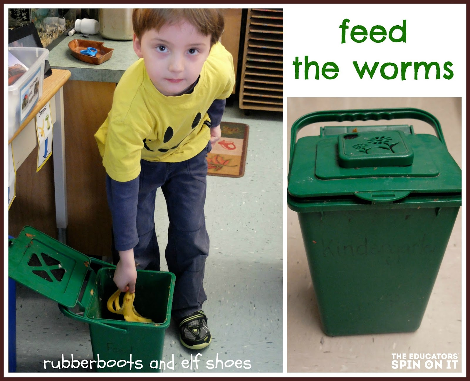 worm composting with preschool students