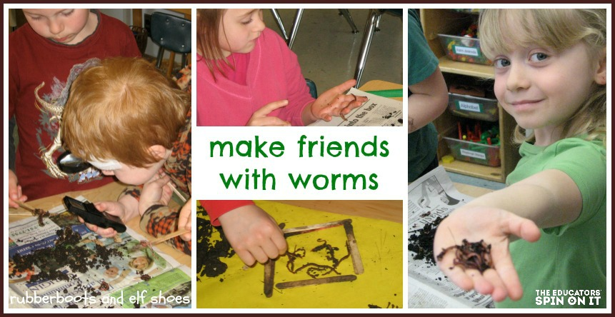 learning about worms, science experiements