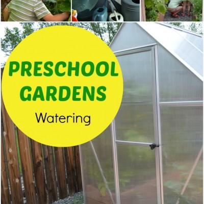 Gardening with Kids: Preschool Garden Watering