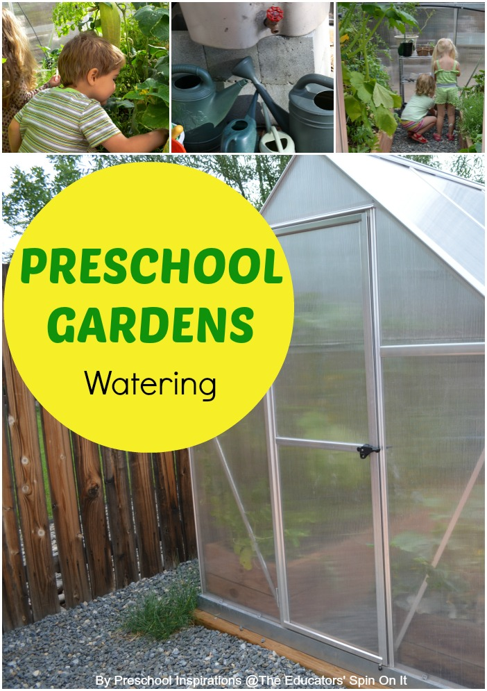 Preschool Gardening; Learning responsibility with garden chores, Watering