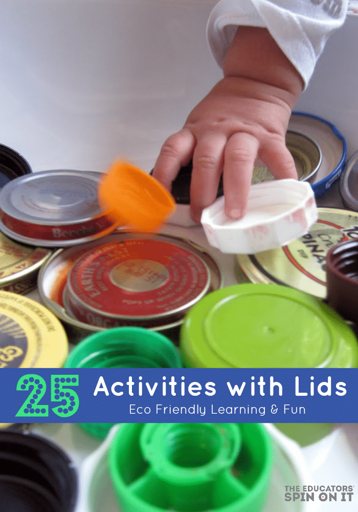 25 Activities with Lids from The Educators' Spin On It