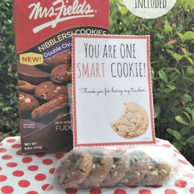 Cookie Themed Teacher Appreciation Gift Idea (includes printable)