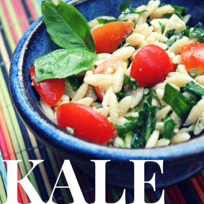 Kale, Orzo, and Feta Summer Side Salad
