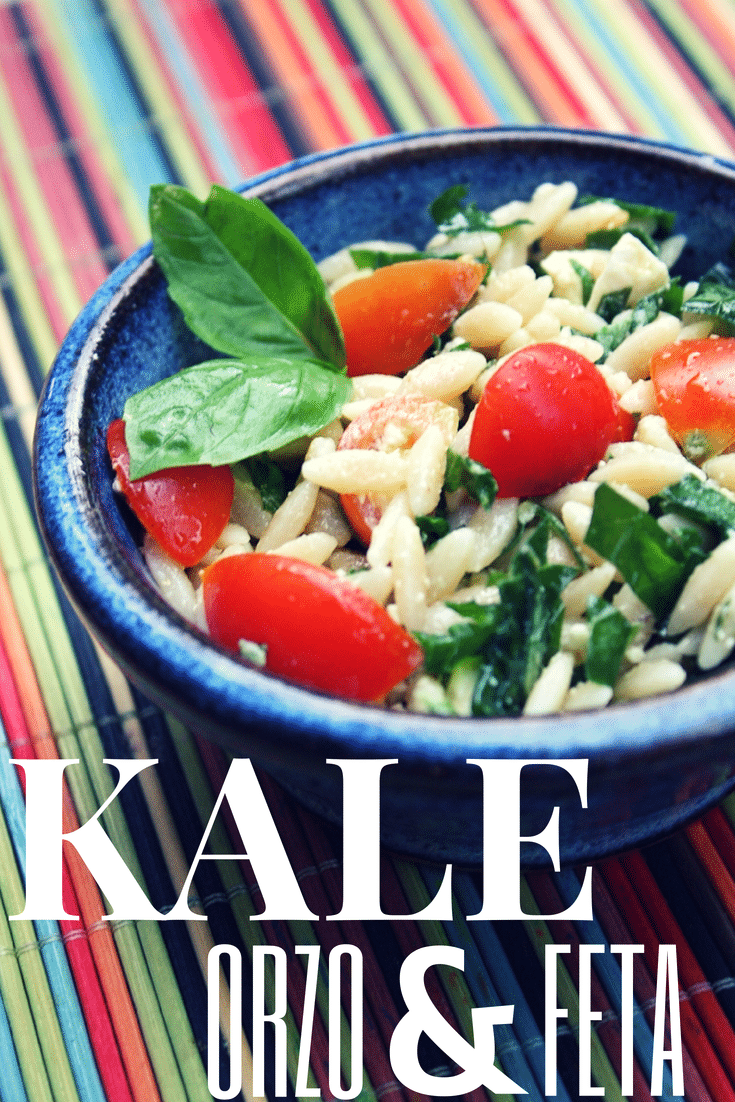 Kale, Orzo and Feta Salad #cookingwithkids