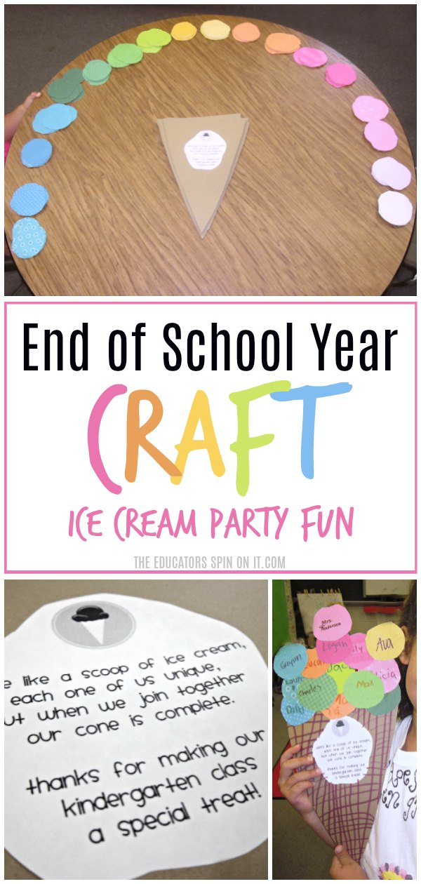 End of School Year Craft for your Ice Cream Party Theme for Kids