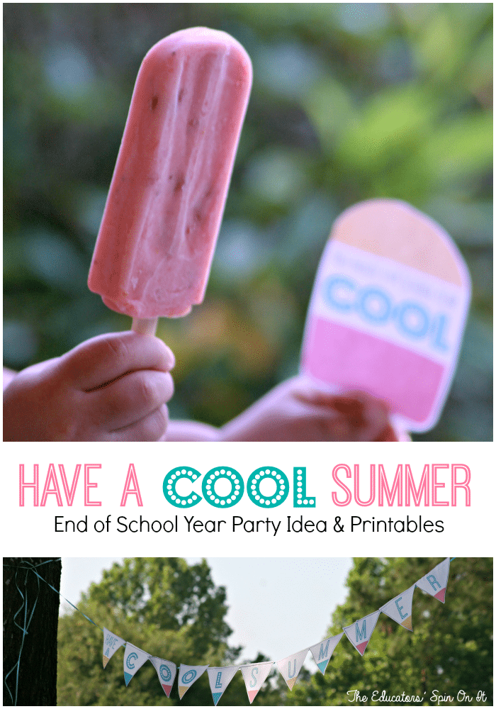 End of School Year Party Idea with Printables