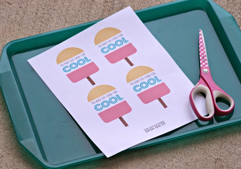 Printable Keepsake for End of Year Party