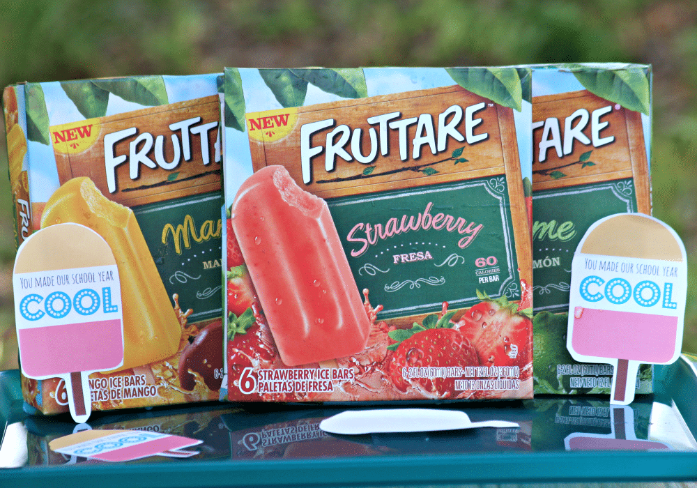 Fruttare Bars for End of School Year Party Snack includes Printables