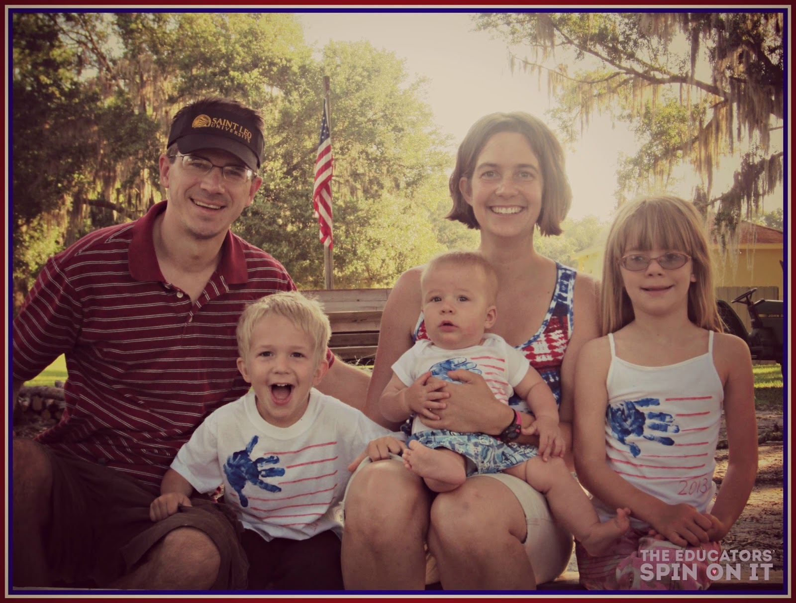 Patriotic family picture