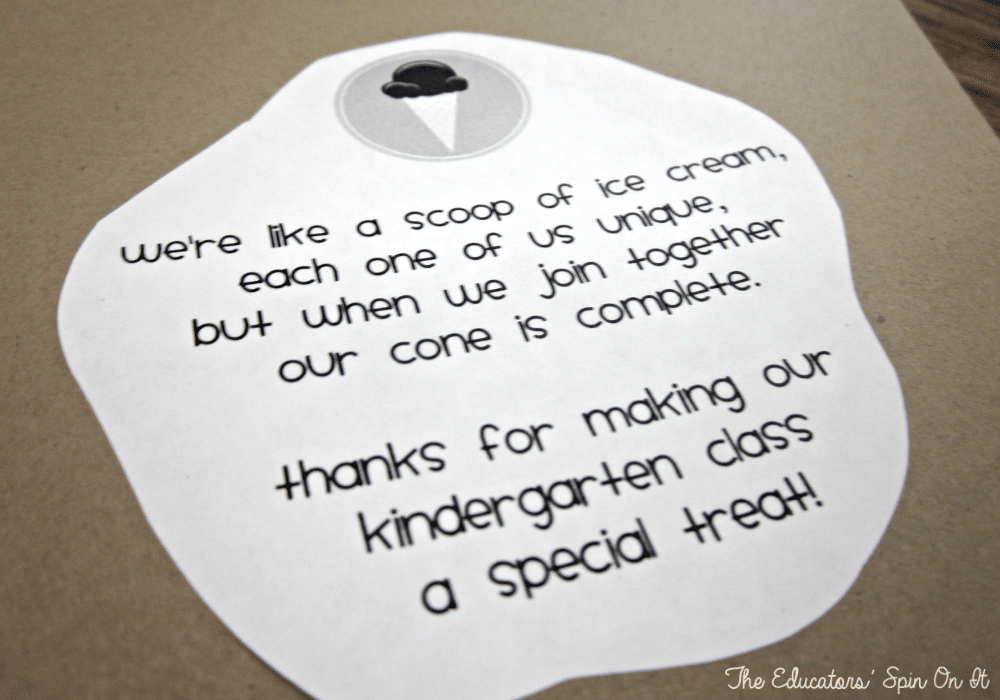 Ice Cream Theme Craft for End of School Year with Printable from The Educators' Spin On It