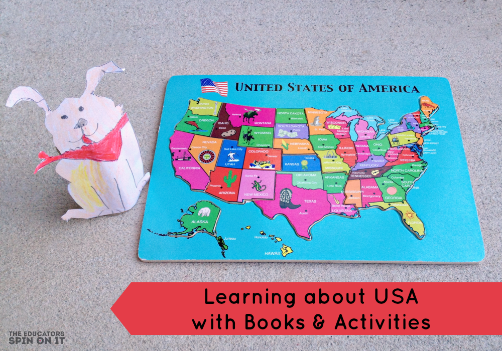 Learning about the USA with Books and Activities from The Educators' Spin On It