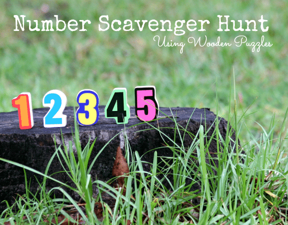 Number Scavenger Hunt with Wooden Puzzles & Flashlight