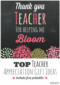 Teacher Appreciation Gift using Flowers Kid Made
