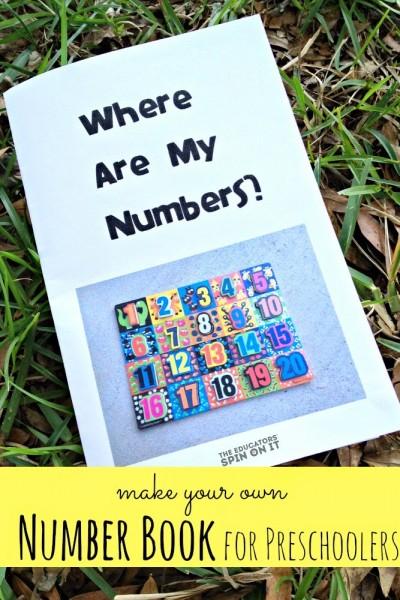 DIY Number Book for Preschoolers