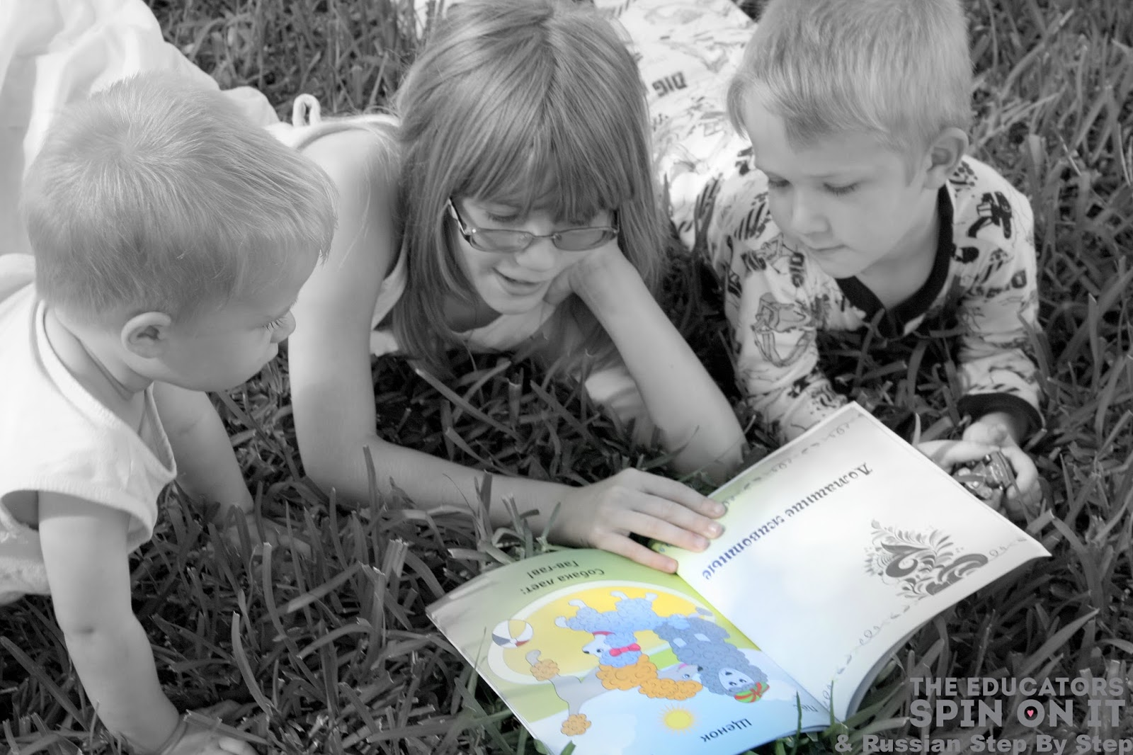 Children reading Russian Step By Step curriculum #sponsored