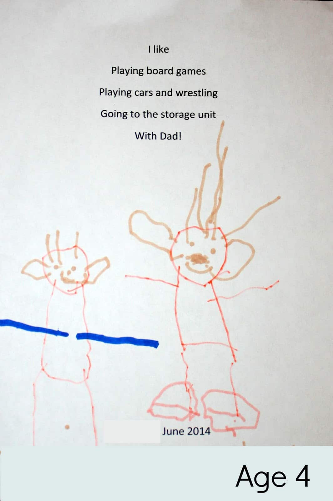EASY D.I.Y. Fathers' Day Poetry Gift that Kids Can Make