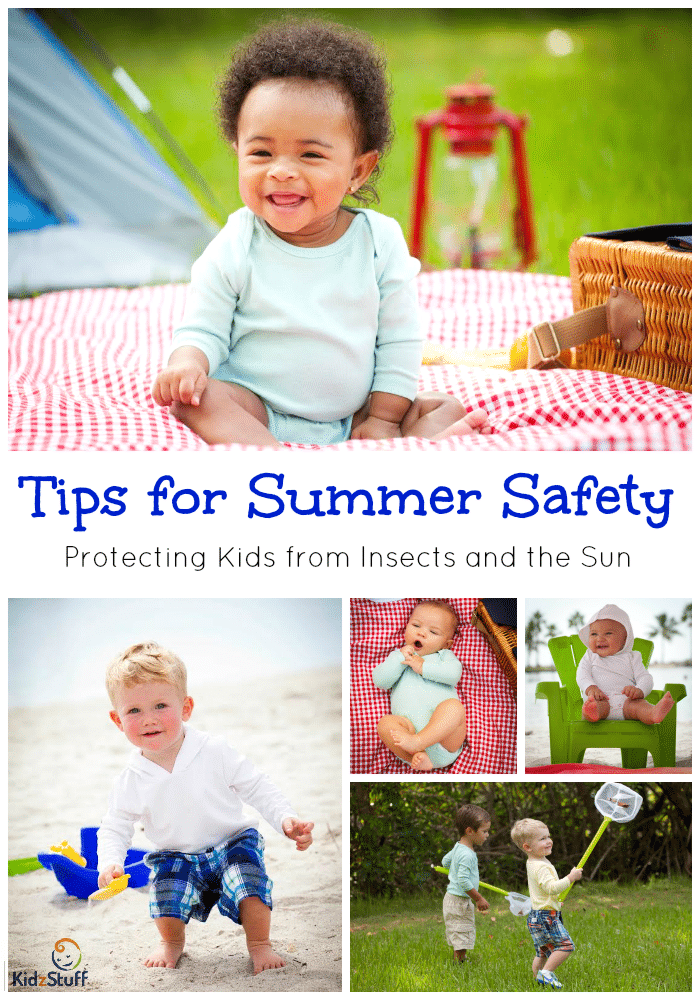 Tips for Summer Safety Protecting Kids from Insects and the Sun from KidzStuff
