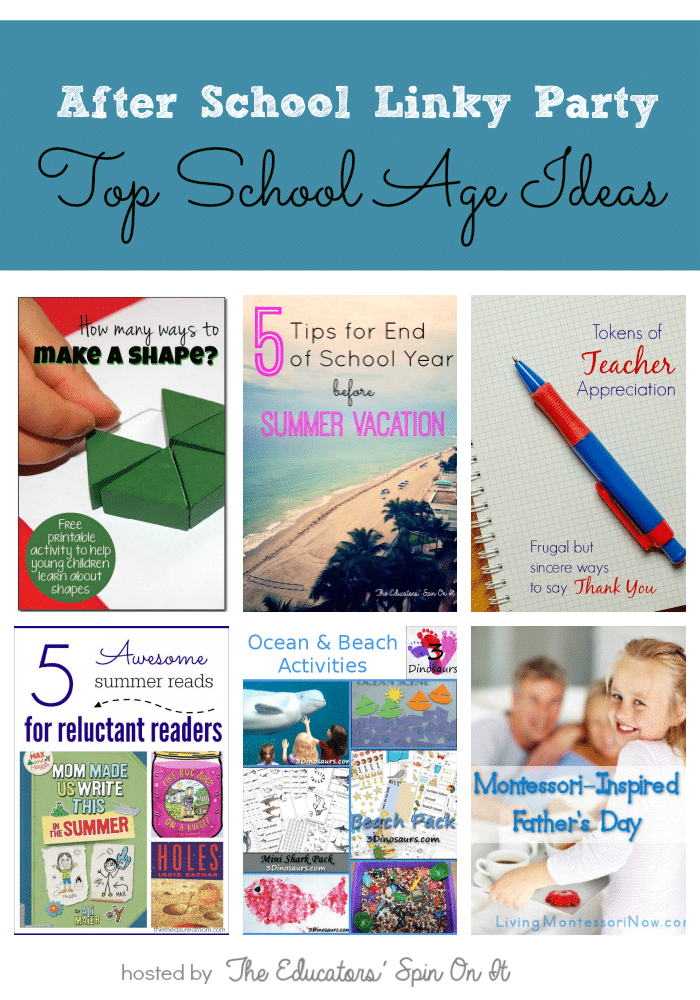 Top After School Activities for School Ages features at The Educators' Spin On It