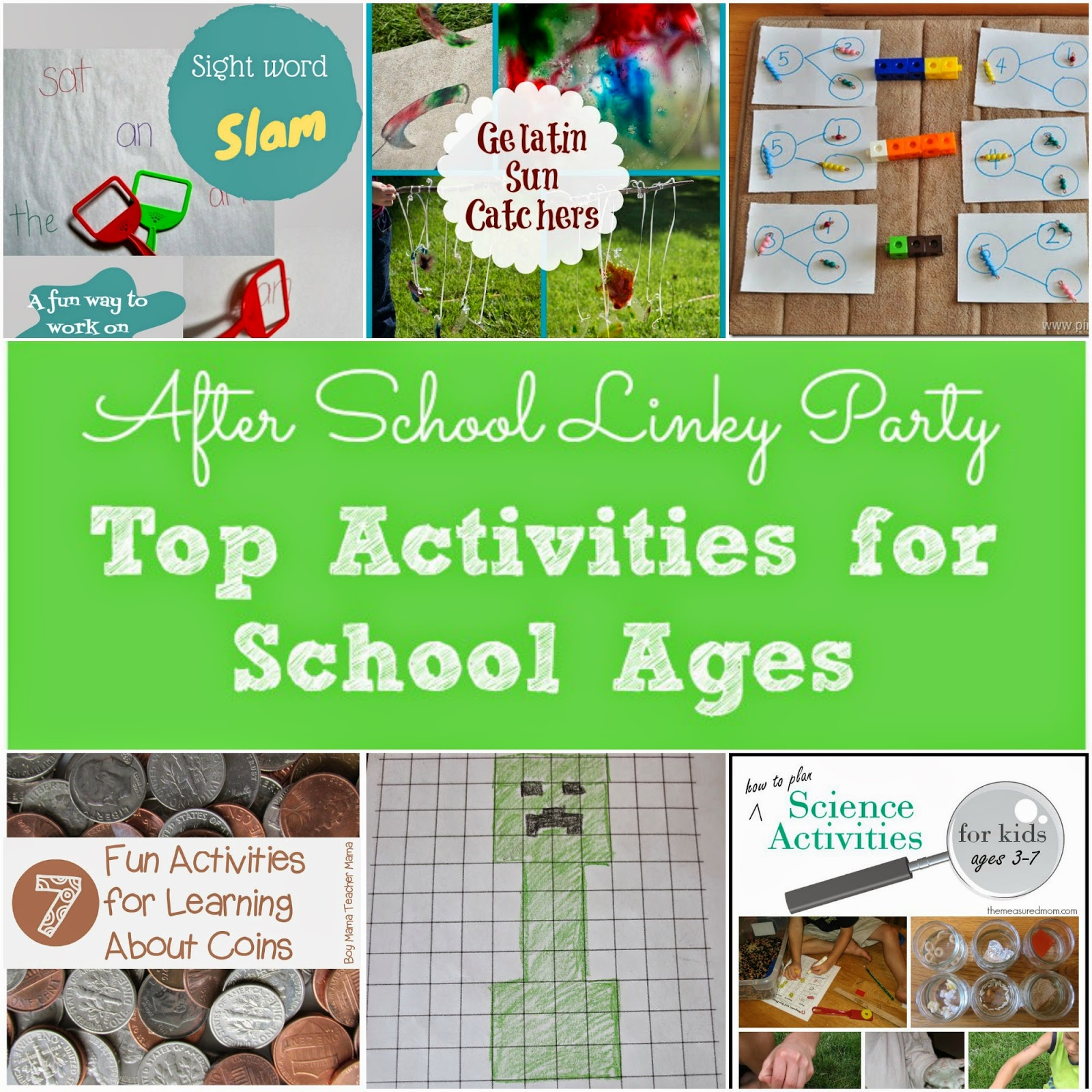 Top Activities for School Ages featured at the After School Linky Party