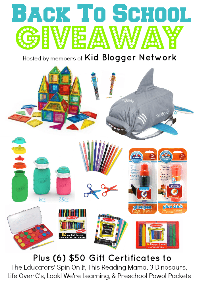 Back to School Giveaway featured at The Educators' Spin On It