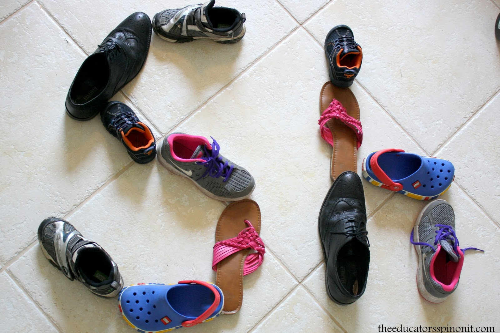 Learn the SH digraph interactive preschool lesson plan with shoes, hands on literacy