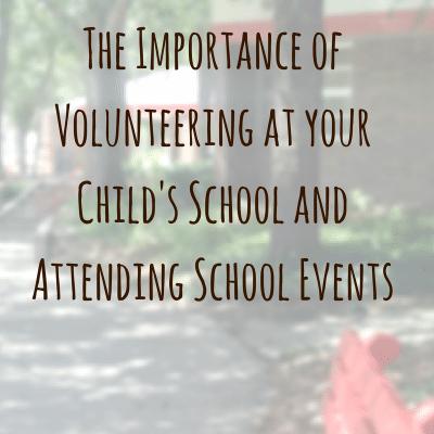 Volunteer at your Child's School