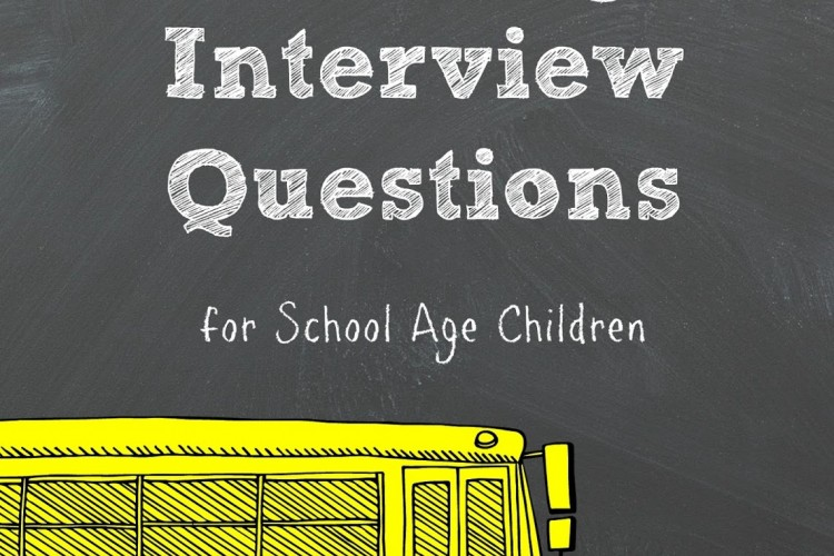 Back to School Reading Interview Questions for School Age Children