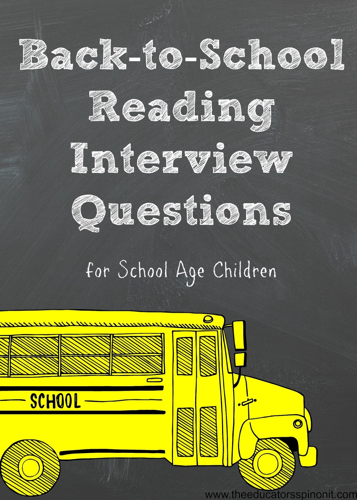 Back To School Reading Interview Questions for School Age Children. Beginning of the year interview