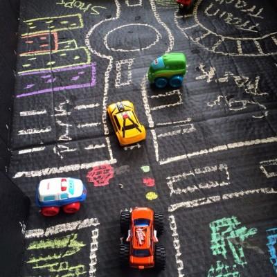 DIY Chalkboard Town in a Box