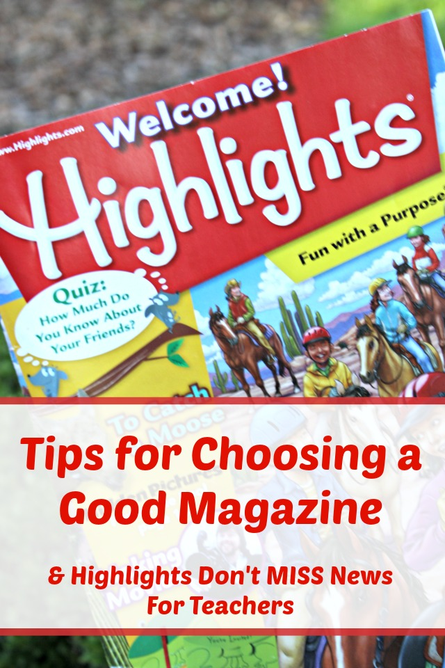 Using Magazines in Today's Classroom : Tips for choosing a good magazine for your elementary school child