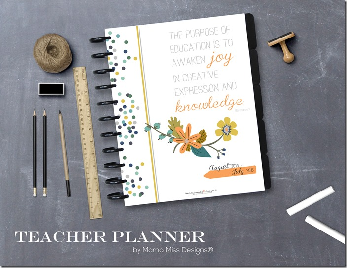 Printable Teacher Planner from Mama Miss Designs