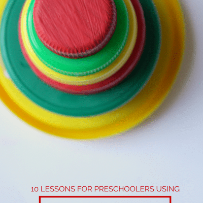 Hands-On Preschool Activities: Learn Math with Lids!!!