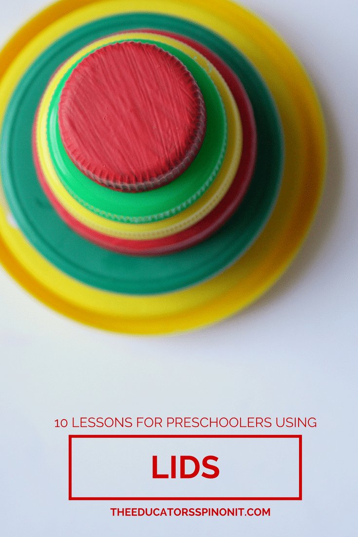 10 Preschool Activities for Mathematics with Lids