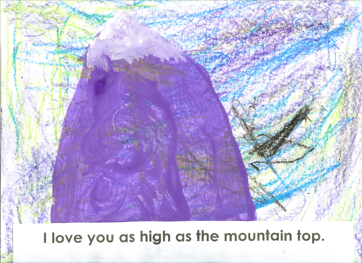 I love you as high as the mountain top