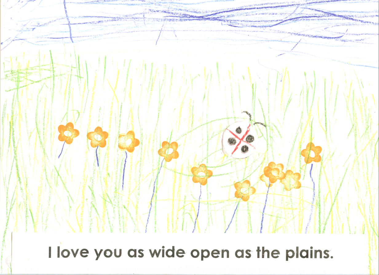 I love you as wide open as the plains