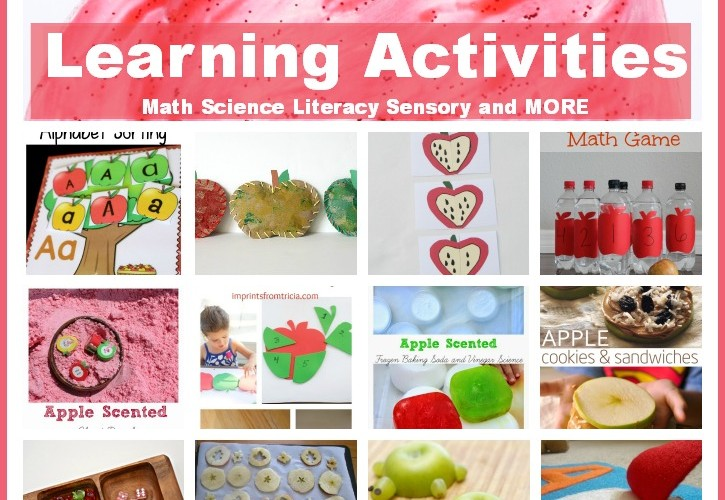 Apple Theme Preschool Activities for Math, Reading & More!!!