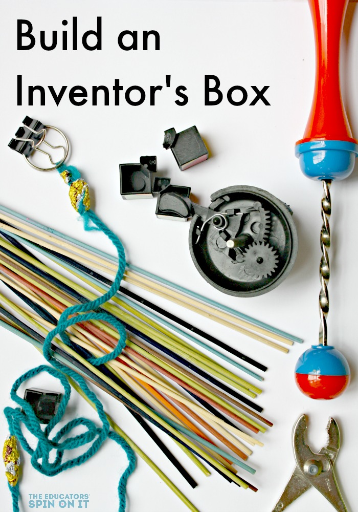Materials to build with to create an inventors box for kids