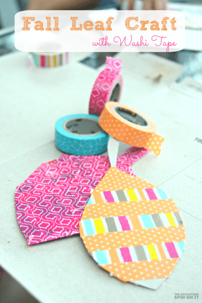 Fall Leaf Craft with Washi Tape