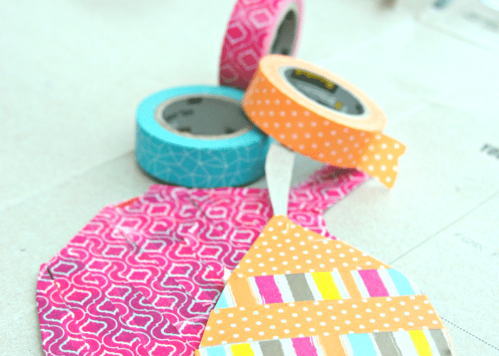 Fall Leaves Craft with Washi Tape