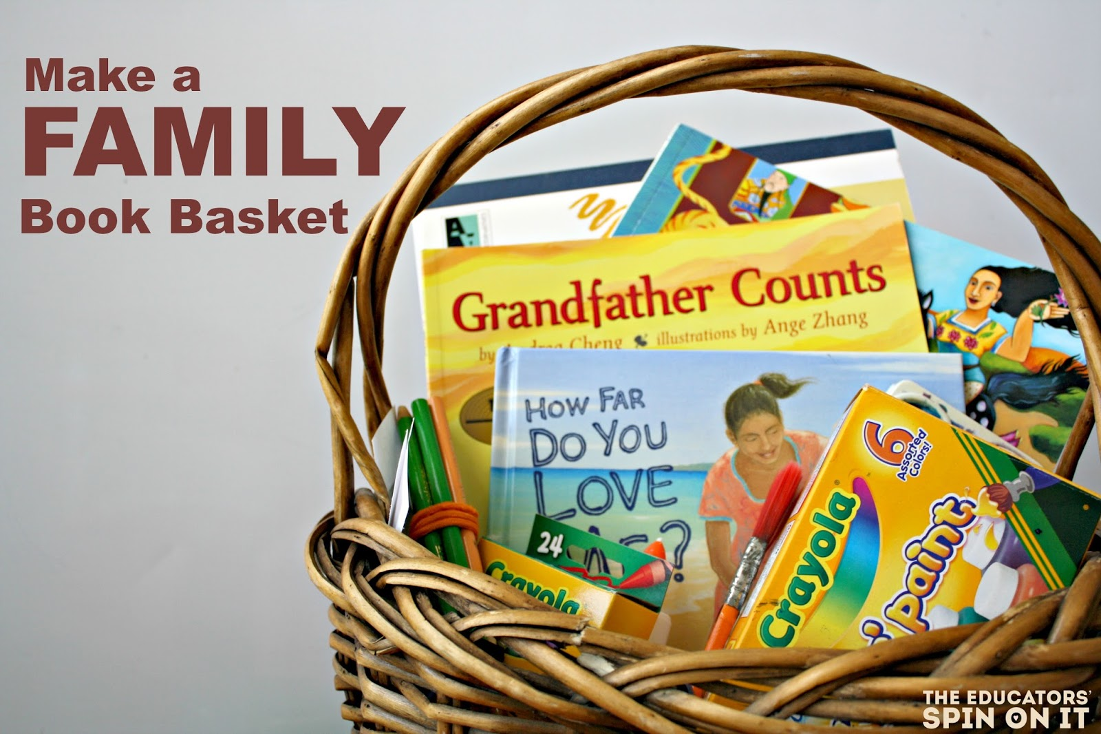 Make a Family Theme Book Basket