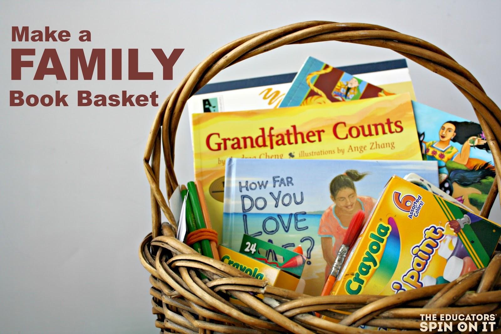 Make a Family Theme Book Basket