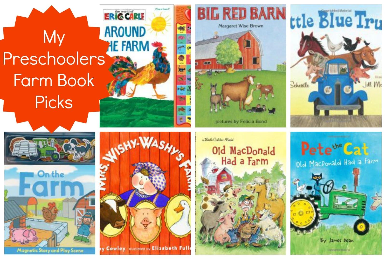 Preschoolers Farm Book Pics