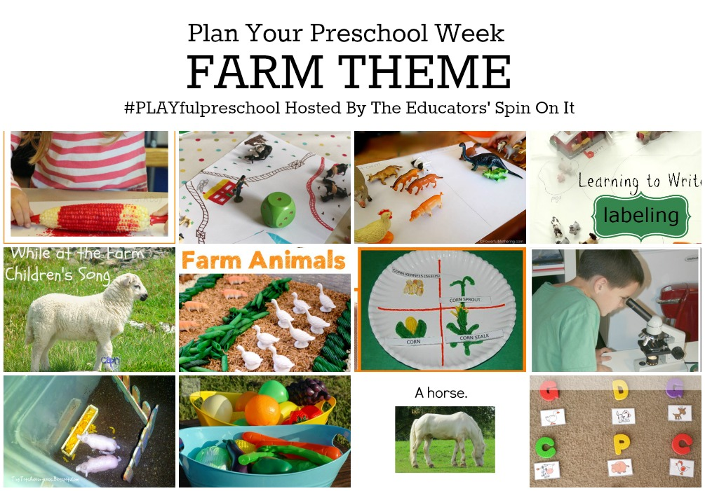 Farm Theme Preschool Activities for Math, Reading, Science, Sensory and more!