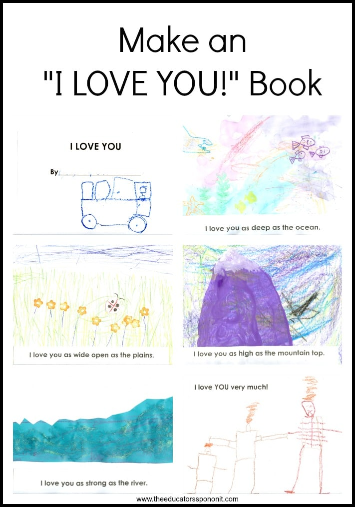 Make an I Love You book with children, a family and literature connection activity. Great for siblings
